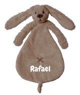 Knuffeldoekje Rabbit Richie clay met naamborduring