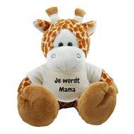 Knuffel giraf 45 cm Je wordt Mama bedrukt