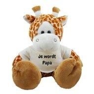 Knuffel giraf 45 cm Je wordt Papa bedrukt