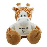 Knuffel giraf 45 cm Je wordt Opa bedrukt