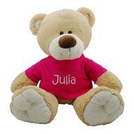 knuffel beer met fuchsia shirtje
