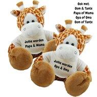 Knuffel Giraf 45 cm Jullie worden ....