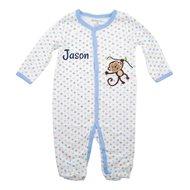 Babypakje blauw aapje met naam