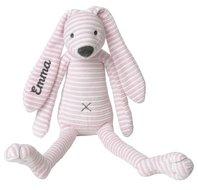 Knuffel Rabbit Reece Pink met naam