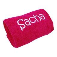 Handdoek fuchsia met naam