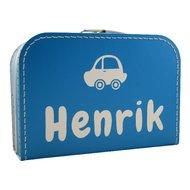 Koffertje turquoise met naam
